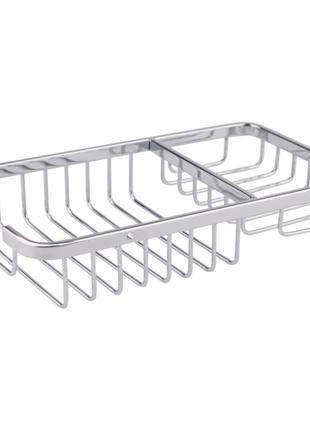 Полочка-решетка для ванной с мыльницей Lidz 22*12 см