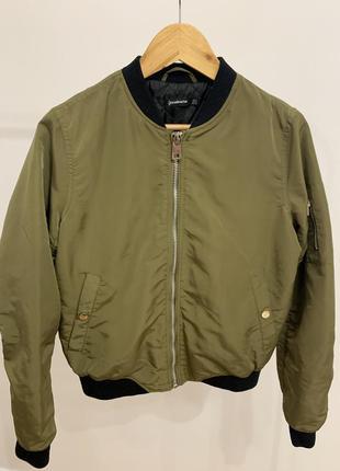 Куртка бомбер stradivarius хаки