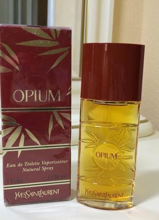 Духи винтажные yves saint laurent opium, тв 30 мл