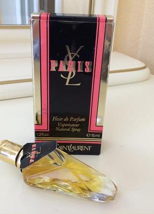 Духи винтажные yves saint laurent paris fleur de parfum, 15 мл