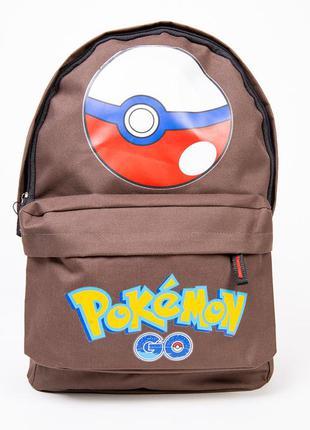 Рюкзак коричневый с принтом