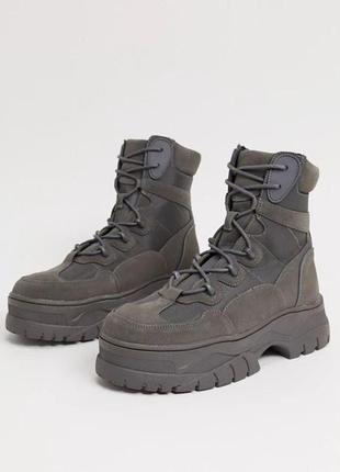 Мужские высокие тактические, милитари ботинки asos