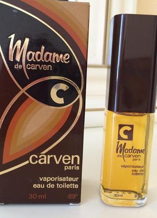 Духи винтажные carven madame de carven, тв 30 мл