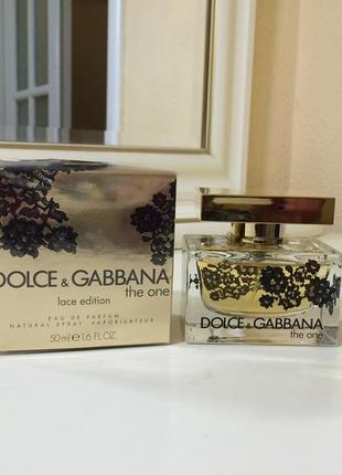 Dolce gabbana the one lace edition, пв 50 мл, оригинал