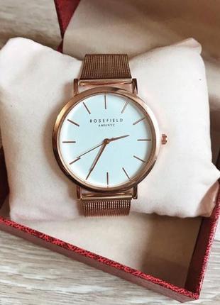 Часы rosefield розовое золото