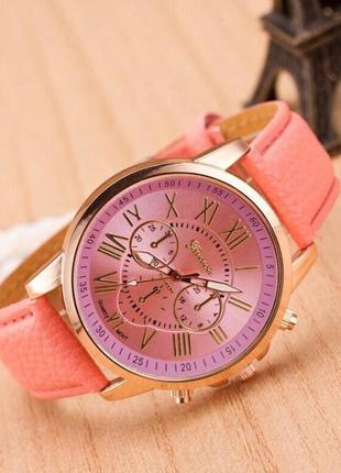 Часы geneva светло-розовый