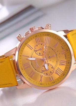 Часы geneva желтый