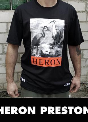 Футболка Цапли Стиль Heron Preston р.XL оверсайз унисекс