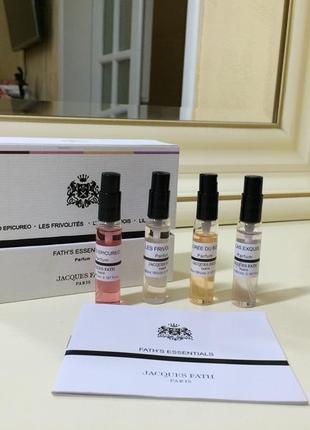 Jacques fath fath's essentials parfum, набор духов