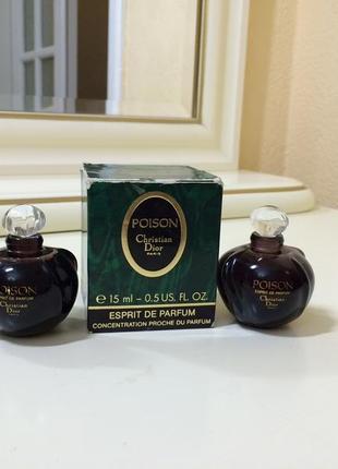 Духи винтажные christian dior poison, esprit de parfum,15 мл