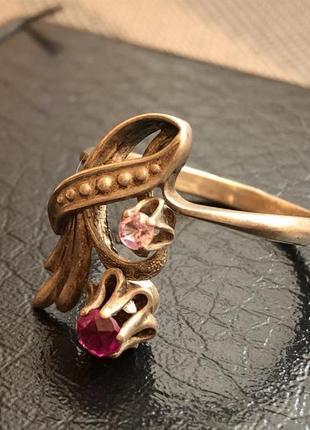 Кольцо серебро 916, звезда, рубины ссср, размер 20