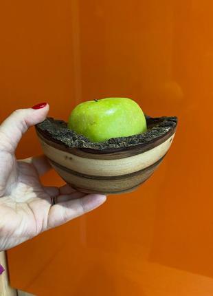 Тарелка миска посуда дерево тарелка из дерева ручной работы