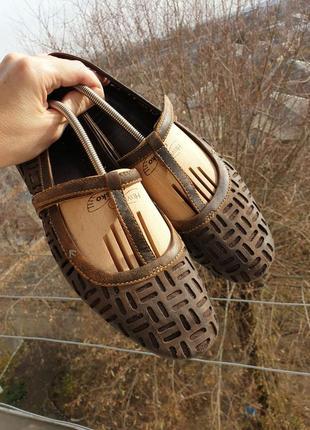 Кожаные комфортные туфли на низком ходу timberland