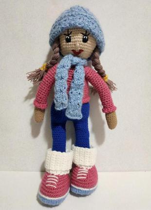 Вязаная кукла 42 см