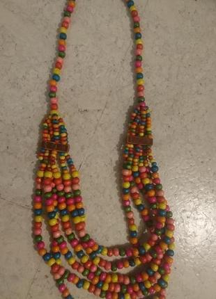#розвантажуюсь бусы ожерелье из деревянных бусин