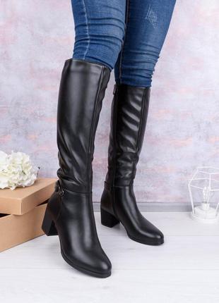 Женские сапоги на каблуке