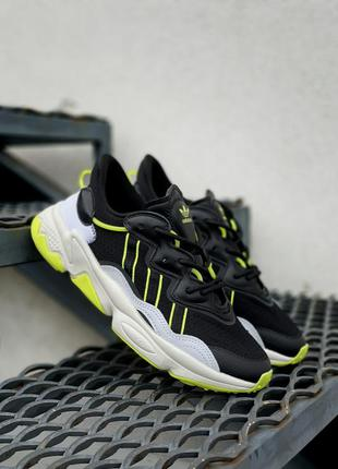 Мужские кроссовки adidas ozweego черного цвета