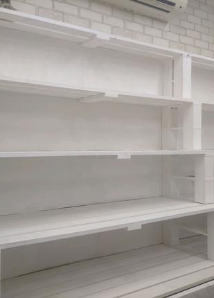 Стейшн белый деревянный
