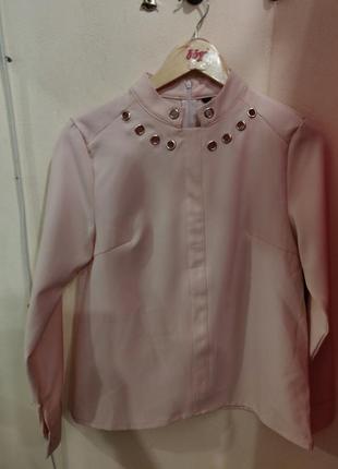 Ликвидация товара 🔥  красивая нюдовая блуза с металлическим де...