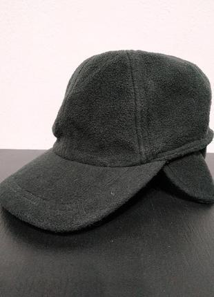 Сост нов шапка флис кепка фуражка ушанка мужская чёрная осень ...
