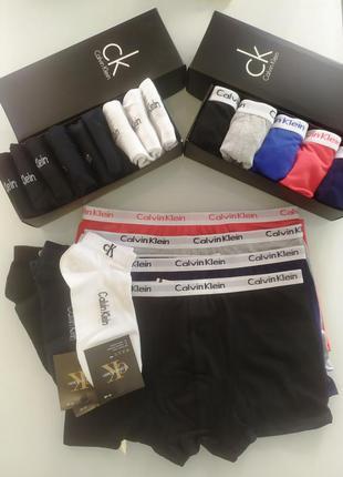 Набор боксеров calvin klein из 5 шт +9 пар носков в подарочных...