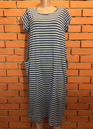 Легкое трикотажное платье 50-52 р италия.