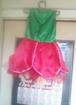 Платье ручной работы Тюльпан