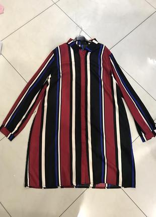 Ликвидация товара 🔥  стильное платье в полоску в стиле рубашки