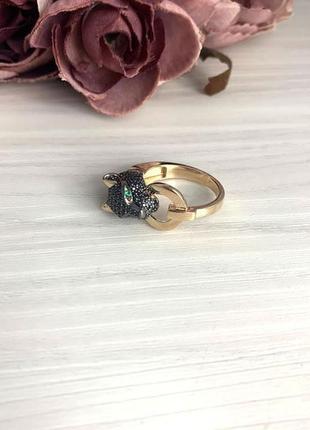 Золотое кольцо с фианитами 0.4ct