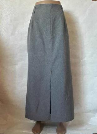 Новая базовая классическая юбка в пол в сером цвете, материал ...