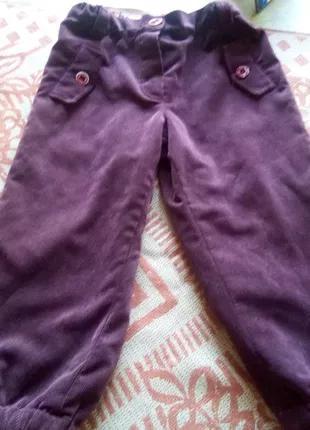 Вельветовые штаны на флисе