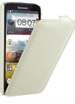 Чехол Avatti Lenovo A850 Slim Flip white