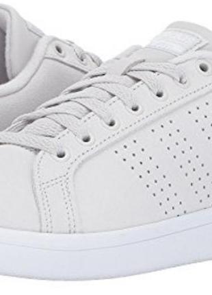 37-9 белые кроссовки натуральная кожа adidas cloudfoam advantage