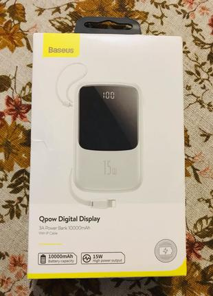 Power bank Baseus 10000 mAh with lightening cab