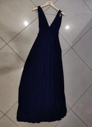 Ликвидация товара 🔥   синее вечернее струящиеся платье