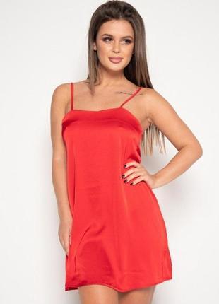 Красная атласная ночная сорочка/ночнушка/ночная рубашка новая ...