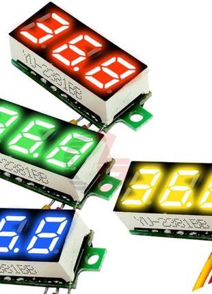 Вольтметр цифровой 0-100 В три провода с подстройкой
