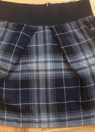 Стильная юбка в клетку,от vero moda