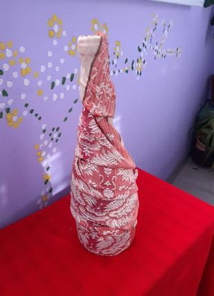 Хендмейд ваза -текстильно стеклянное украшение