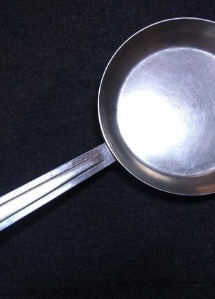 Сковорода с ручкой. Нержавеющая сталь. Пр-ва СССР.