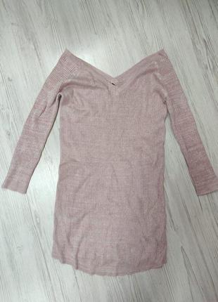 🎈🛍нас 10 тысяч🛍🎈happy sale🎁 розовое вязаное мини платье на низ...