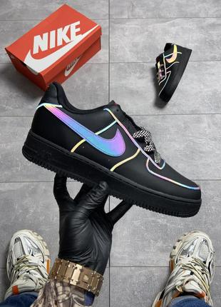 Nike air force low black reflective