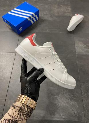 Adidas stan smith white red