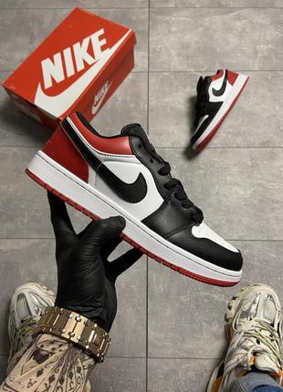 Nike air jordan 1 low red black