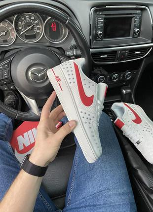 Nike air force 1 low white red