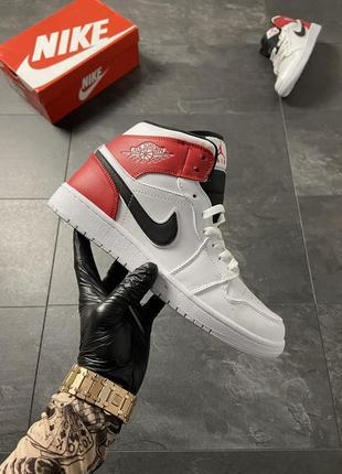 Nike air jordan 1 white red