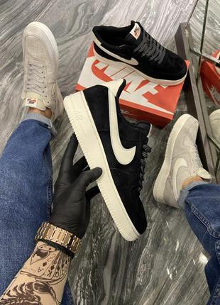 Nike air force luxury suede black