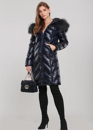 Зимняя 💣стёганая куртка с мехом,размер l,на наш 48/50