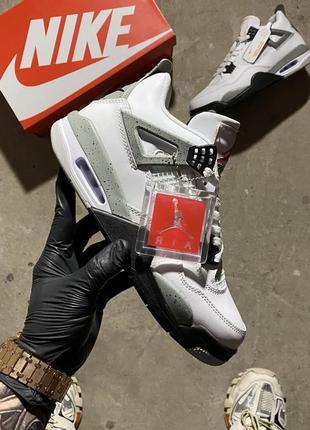 Nike air jordan 4 retro white gray