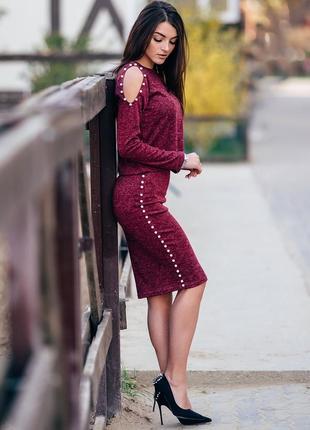 Костюм женский, кофта и юбка ангора